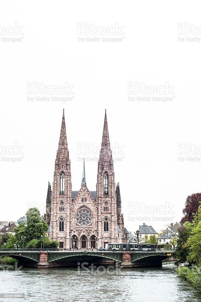 St. Paul's Church in Strasbourg, France stock photo