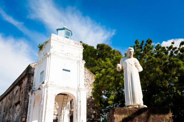 st pauls church melaka, maleisië - malakka staat stockfoto's en -beelden