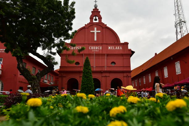st. pauls kyrka, melaka, malaysia - paul simon bildbanksfoton och bilder