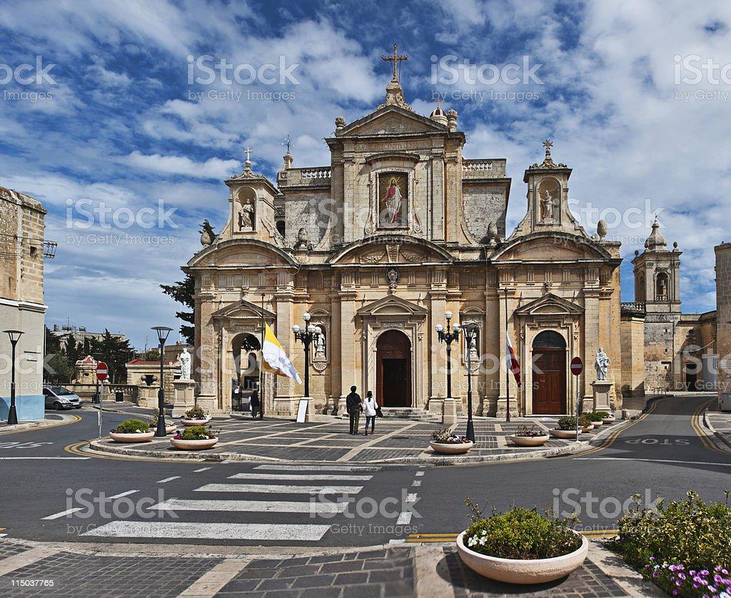 St. Paul's church, Rabat, Malta stock photo