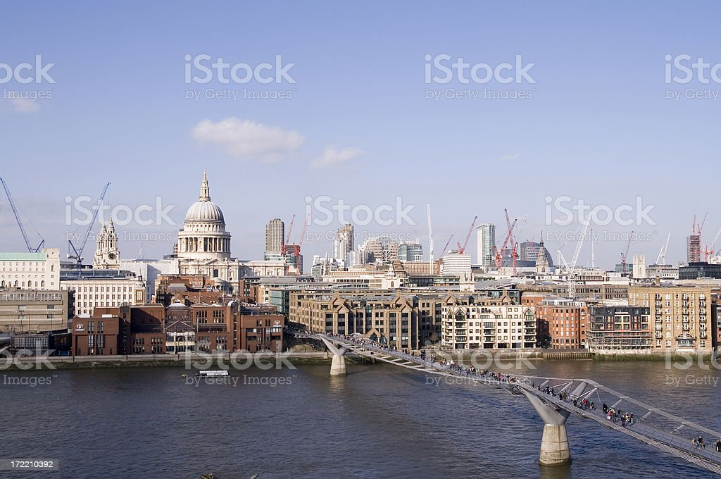 St Paul's from Tate Modern royalty-free stock photo