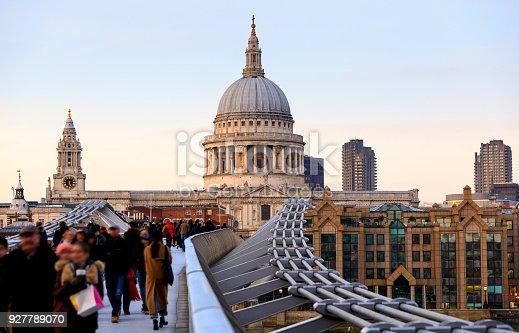 St Pauls Millennium Bridge London, United Kingdom