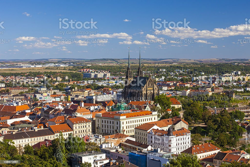 St Peter and Paul Cathedral Brno stock photo