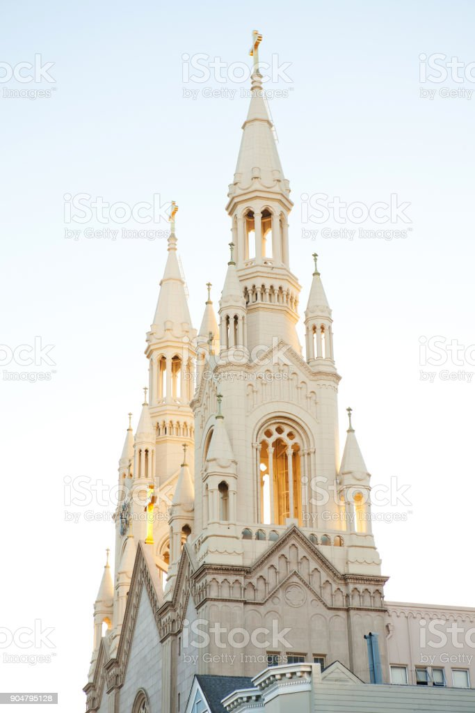 St Peter and Paul Cathedral, San Francisco stock photo