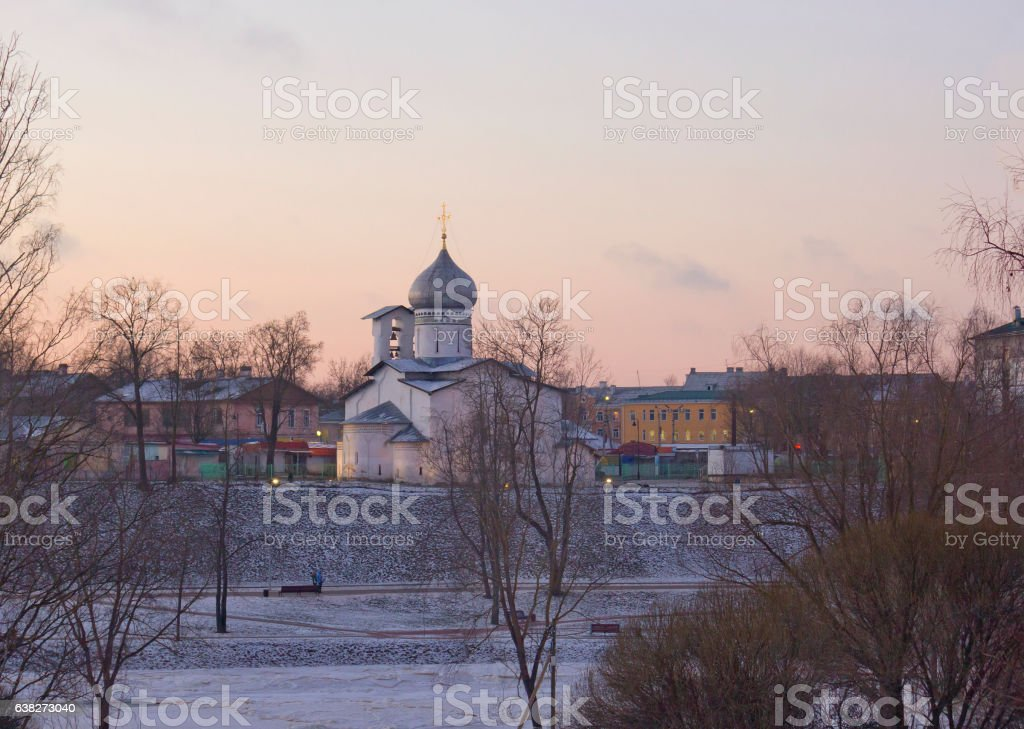 St Peter and St Paul church in Pskov, Russia stock photo
