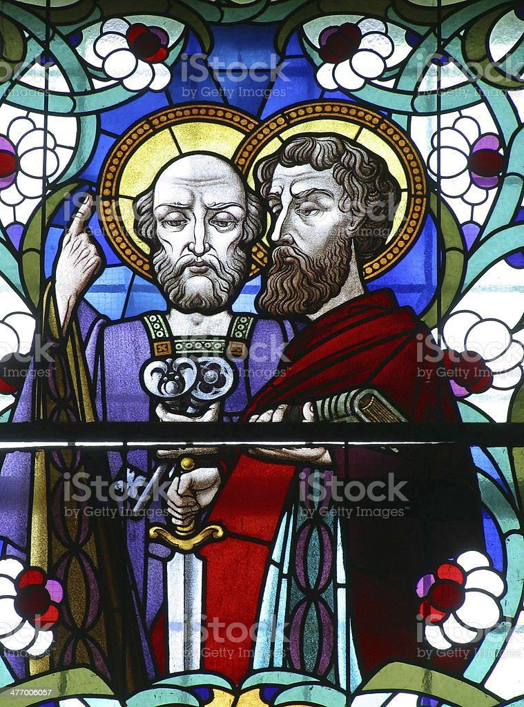 St. Peter and st. Paul stock photo