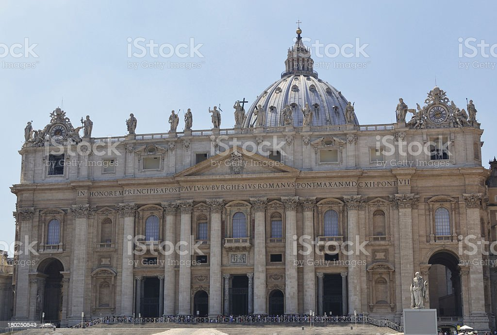 St. Peter Basilica in Vatican, Italy stock photo