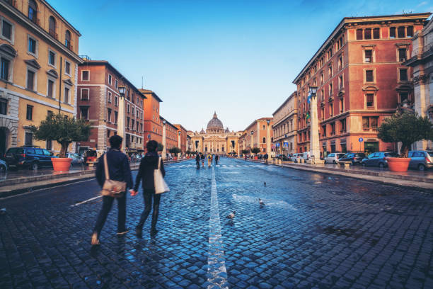 St Peter Basilica in Vatican , Rome, Italy stock photo