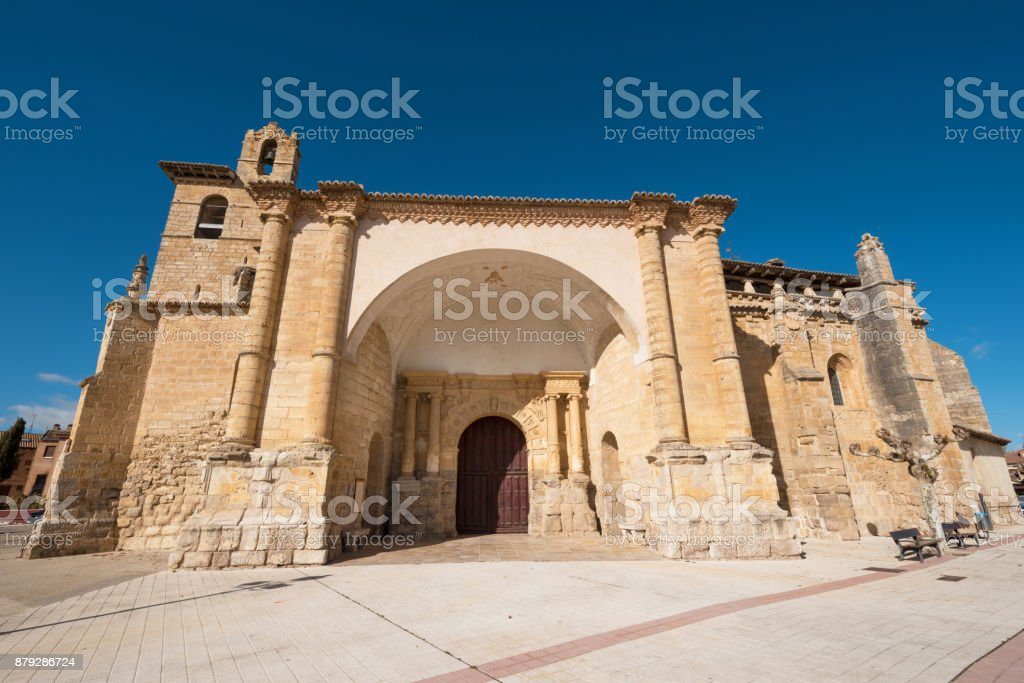 St Peter church in Fromista, Palencia, Castilla y León, Spain. stock photo