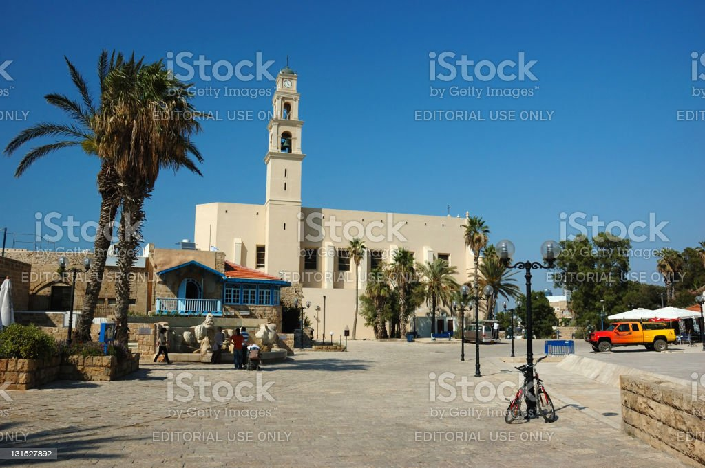 St. Peter church in Jaffo,famous touristic city of Israel royalty-free stock photo