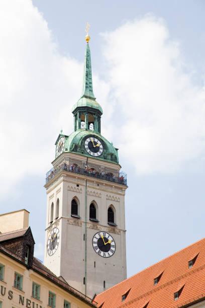 st peter kyrka, münchen - sankt peterskyrkan münchen bildbanksfoton och bilder