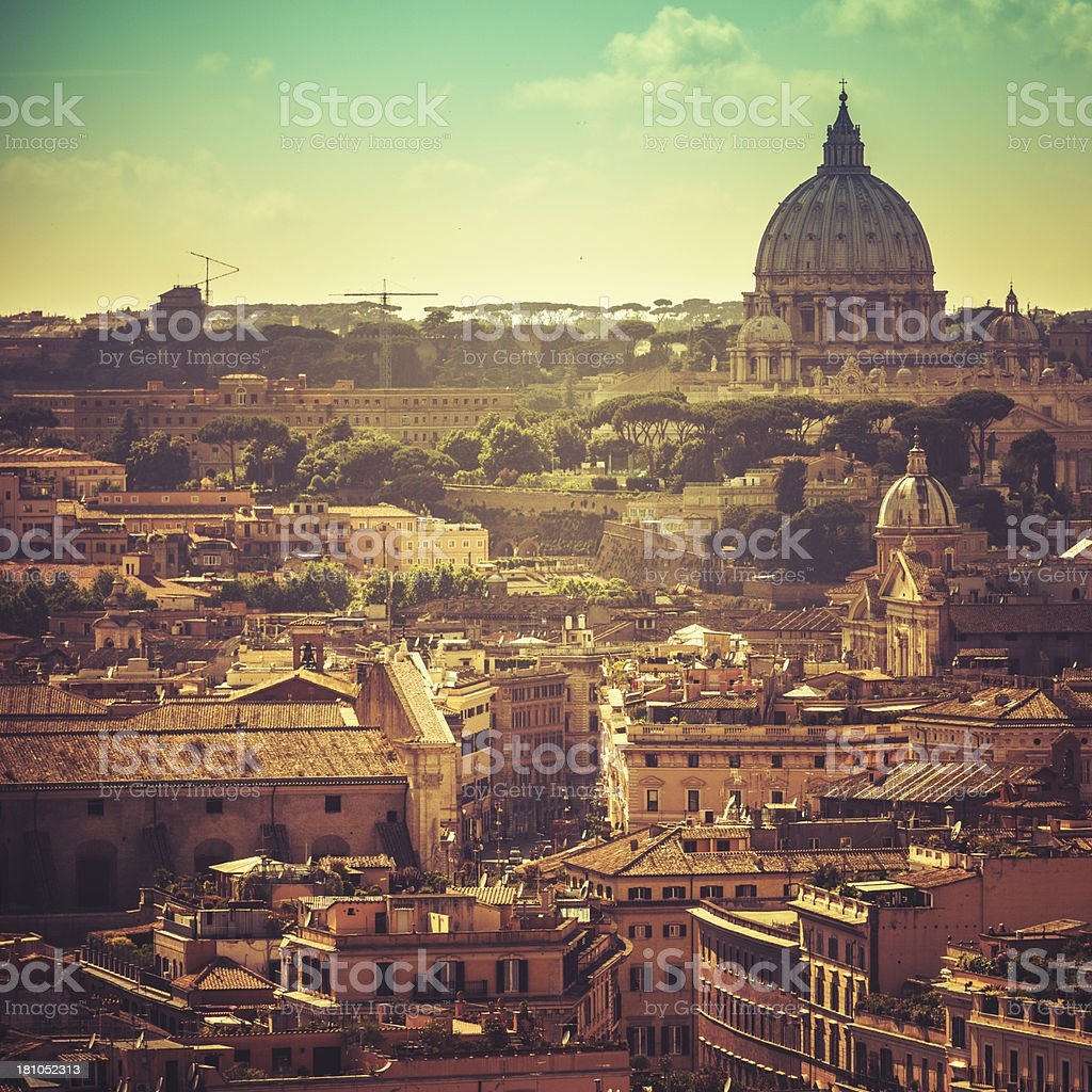 St. peter chyrch in the rome skyline royalty-free stock photo