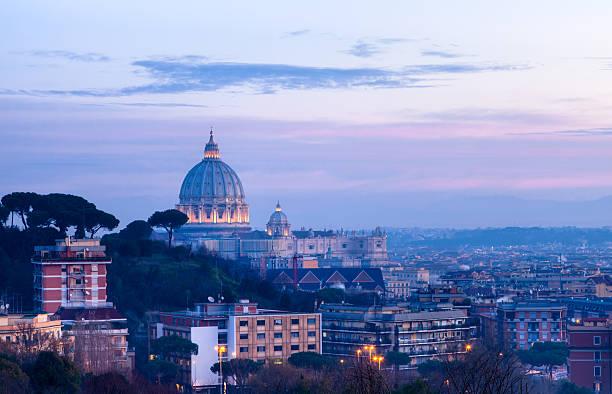 St Peter cupola at dawn stock photo