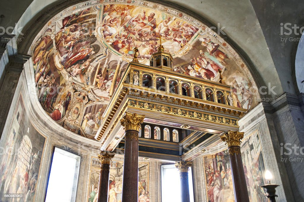 San Pietro in Vincoli church stock photo