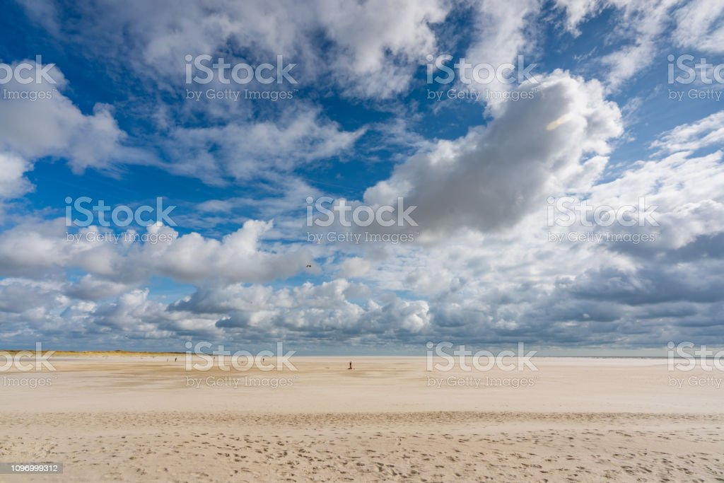 St. Peter Ording Summer Kite Flying Wadden Sea Beach stock photo