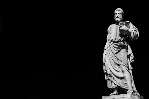 St Peter (Black and White with copy space)