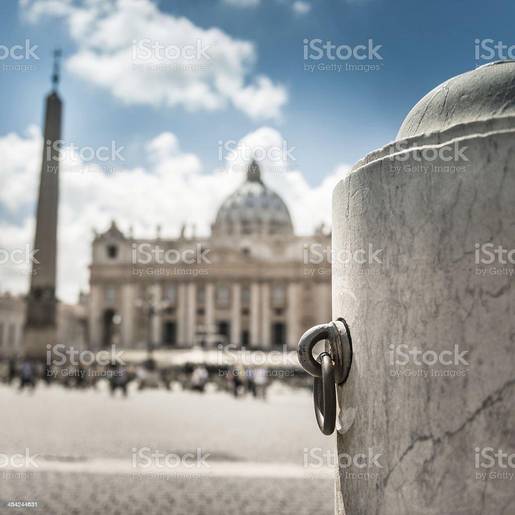 St. peter square defocused royalty-free stock photo