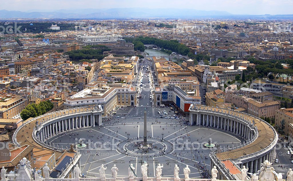 St. Peter square stock photo
