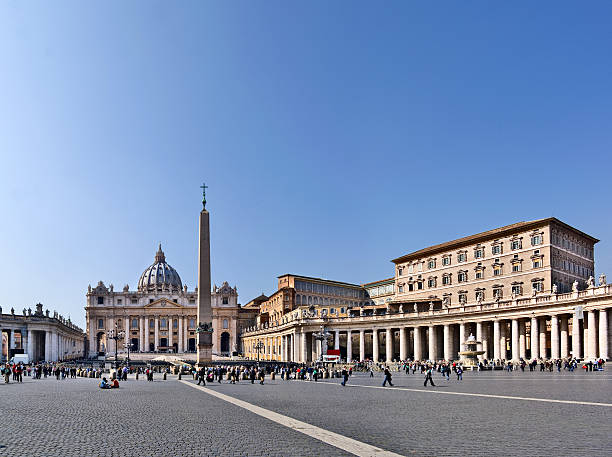 st. peter' square, vatican, roma, italy - peter the apostle stock photos and pictures