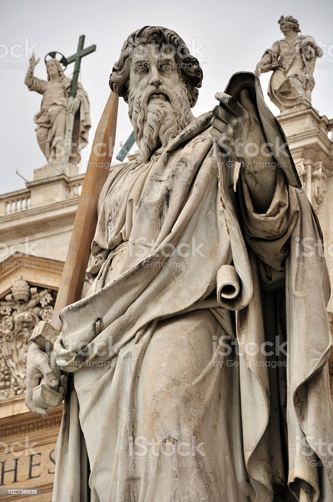 St. Peter Statue in Vatican royalty-free stock photo