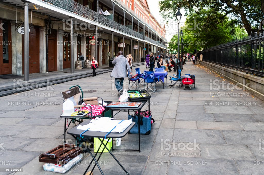 St Peter Street By Jackson Square With Psychic Tarot Card