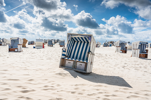 St. Peter-Ording Hooded Beach Chairs Nordsee Germany