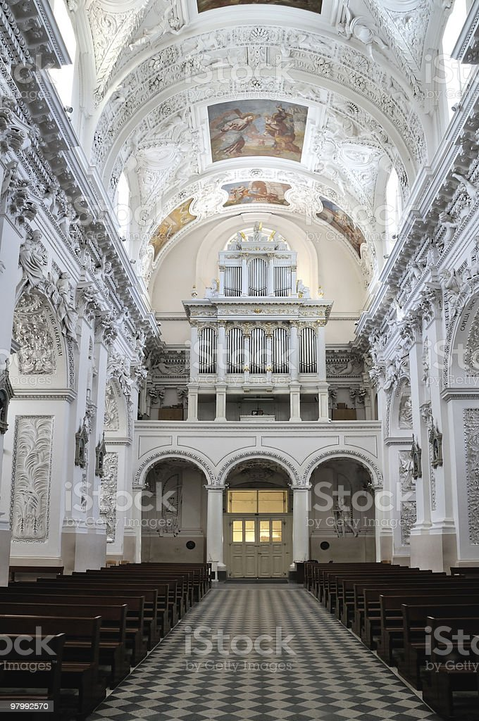 St. Peter's and StPaul's church,  interior royalty free stockfoto