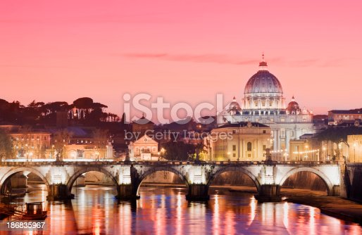 istock St Peters Basilica and River Tiber in Rome Italy 186835967