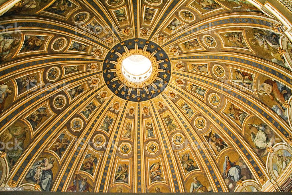 Basilica di San Pietro ceiling stock photo