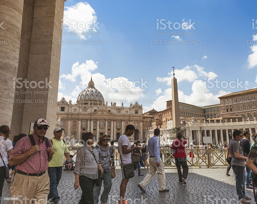 st. peter's basilica in Rome royalty-free stock photo