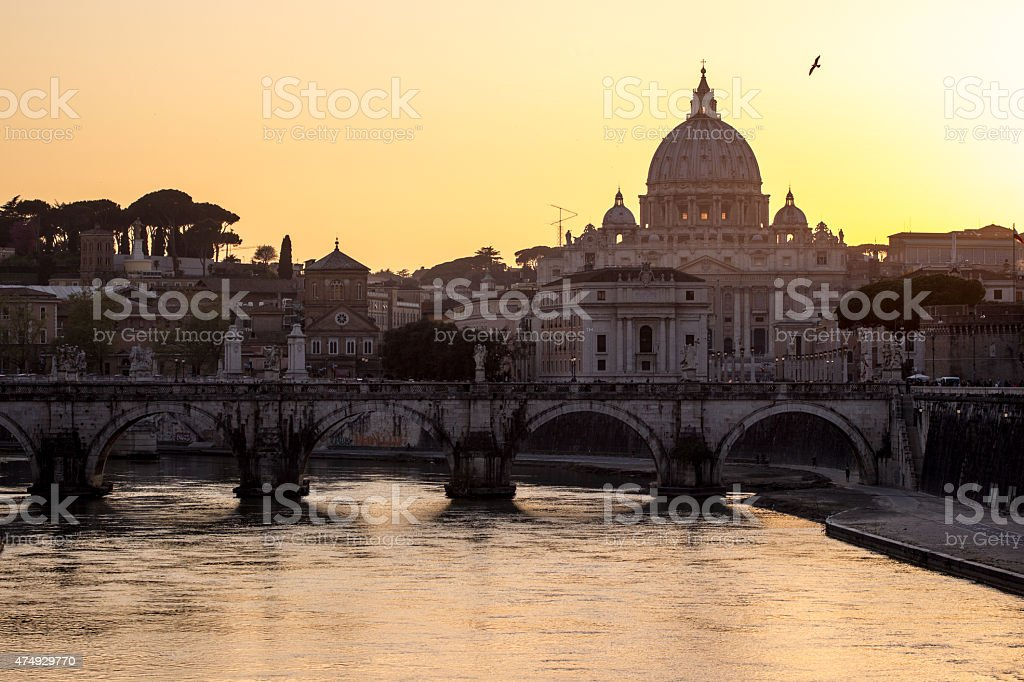 St. Peter's Basilica in Vatican City, Italy stock photo