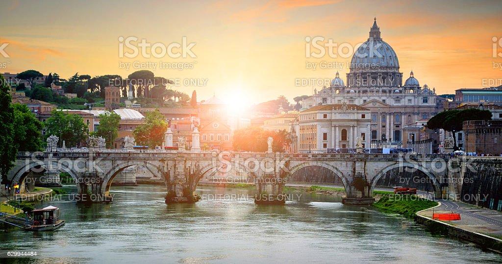 St. Peter's Basilica stock photo