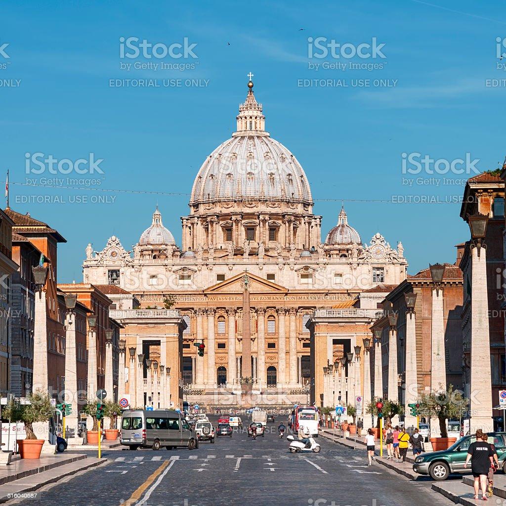 St. Peter's Basilica, Rome - Italy stock photo