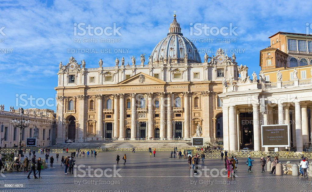 St. Peter's Basilica, Rome, Italy stock photo