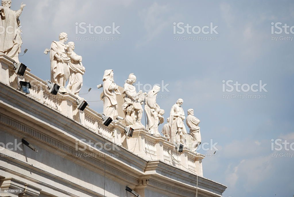 St. Peter's Basilica, St. Peter's Square, Vatican City stock photo