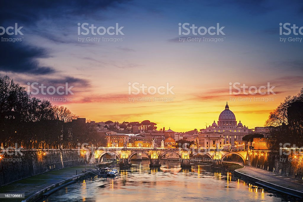 St Peter's cathedral at sundown royalty-free stock photo