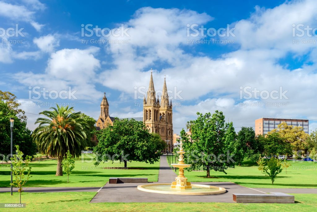 St. Peter's Cathedral in Adelaide city stock photo