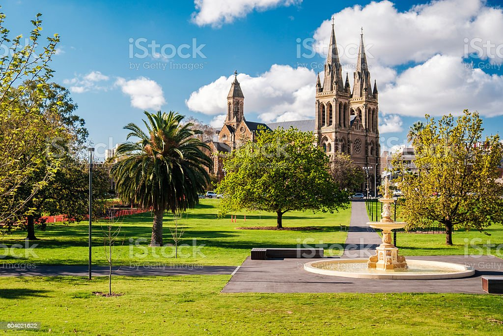 St. Peter's Cathedral in Adelaide stock photo