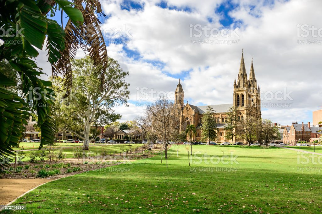 St. Peter's Cathedral located in North Adelaide stock photo