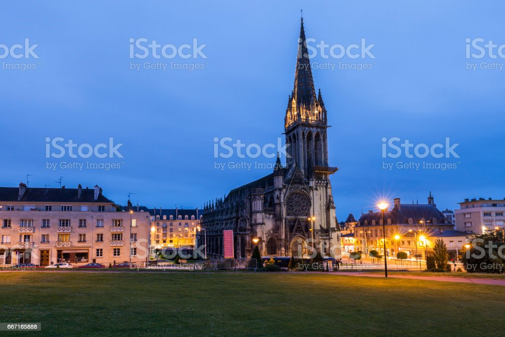 St Peter's Church in Caen stock photo