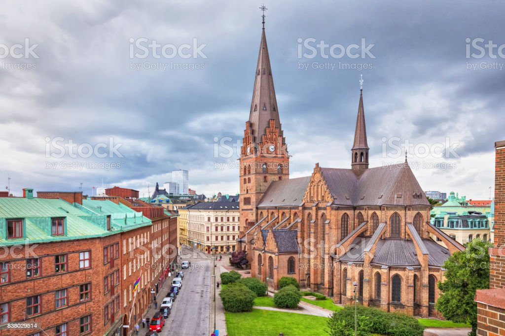 St. Peters Church in Malmo, Sweden stock photo