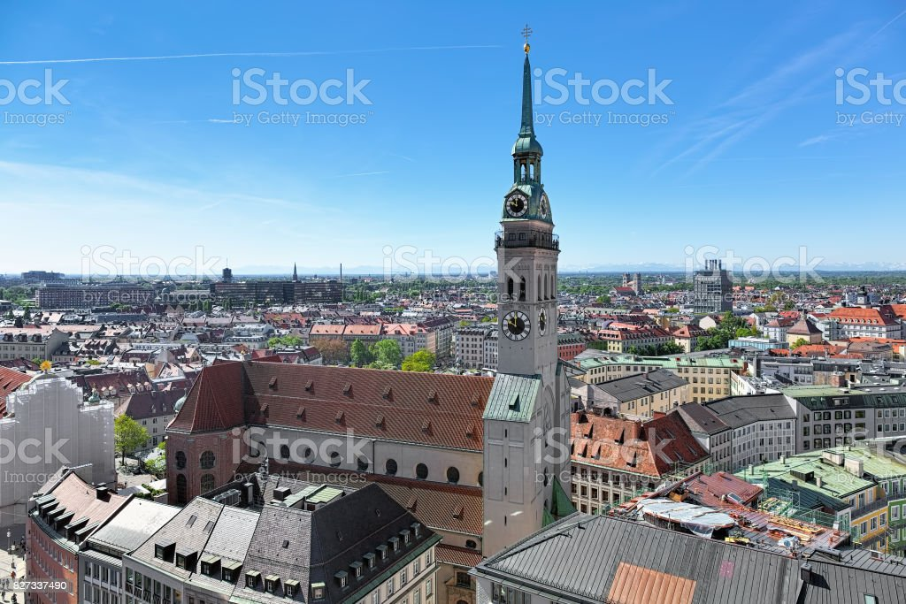 St. Peter's Church in Munich, Germany stock photo