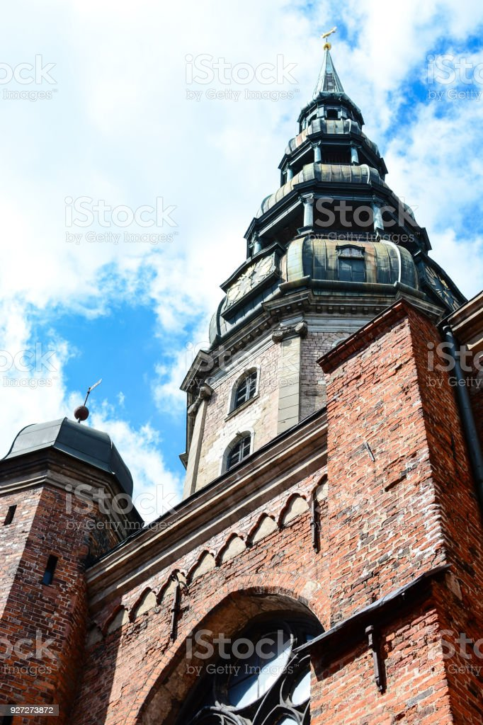 St. Peter\'s Church in Riga, Latvia. Medieval architecture, Gothic...