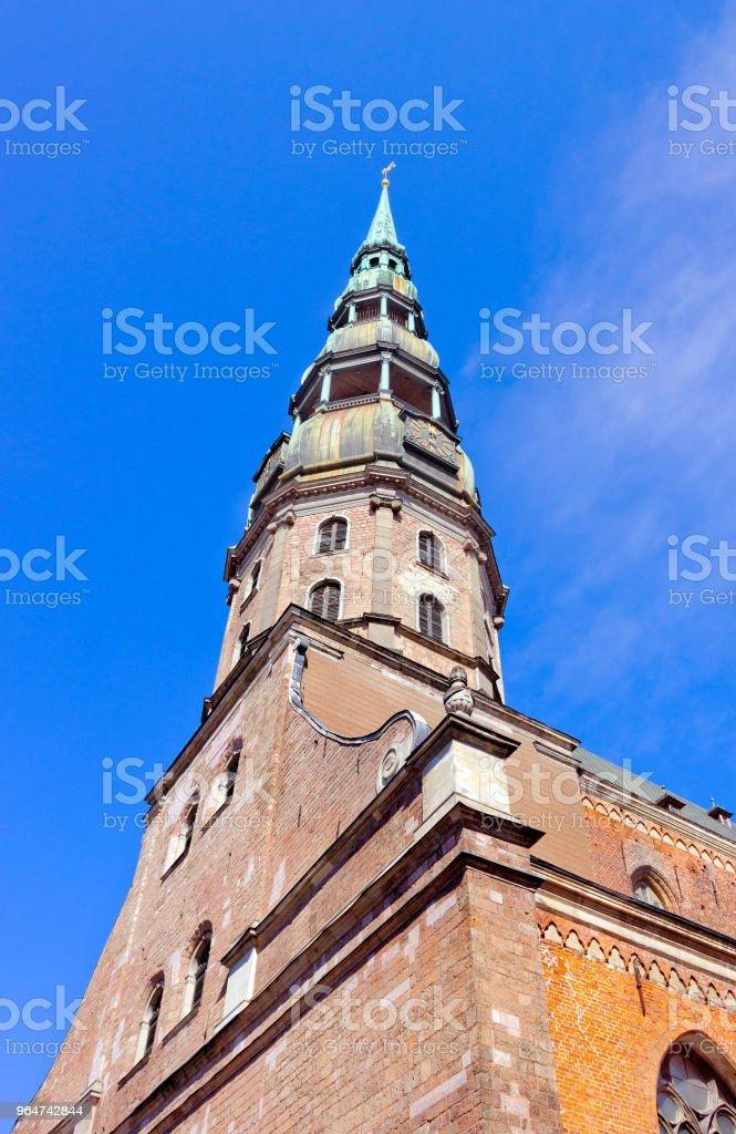 St Peter's church in Riga, Latvia royalty-free stock photo