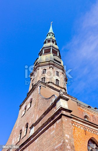 St Peters Church In Riga Latvia Stock Photo & More Pictures of Ancient