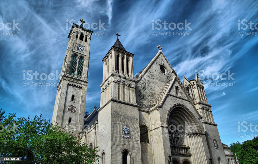 St. Peter's Church in Staten Island, New York stock photo