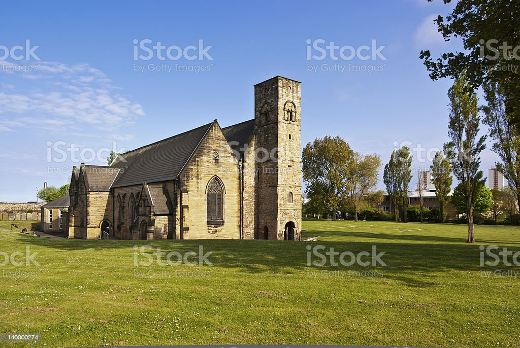St Peter's Church in Sunderland stock photo