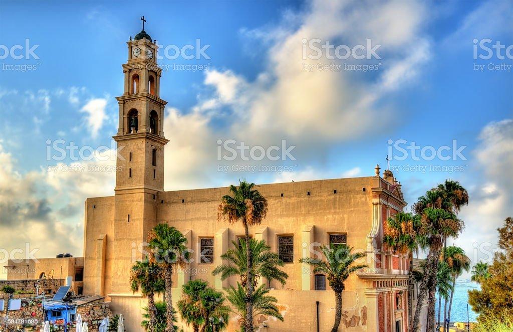 St. Peter's Church in Tel Aviv-Jaffa stock photo