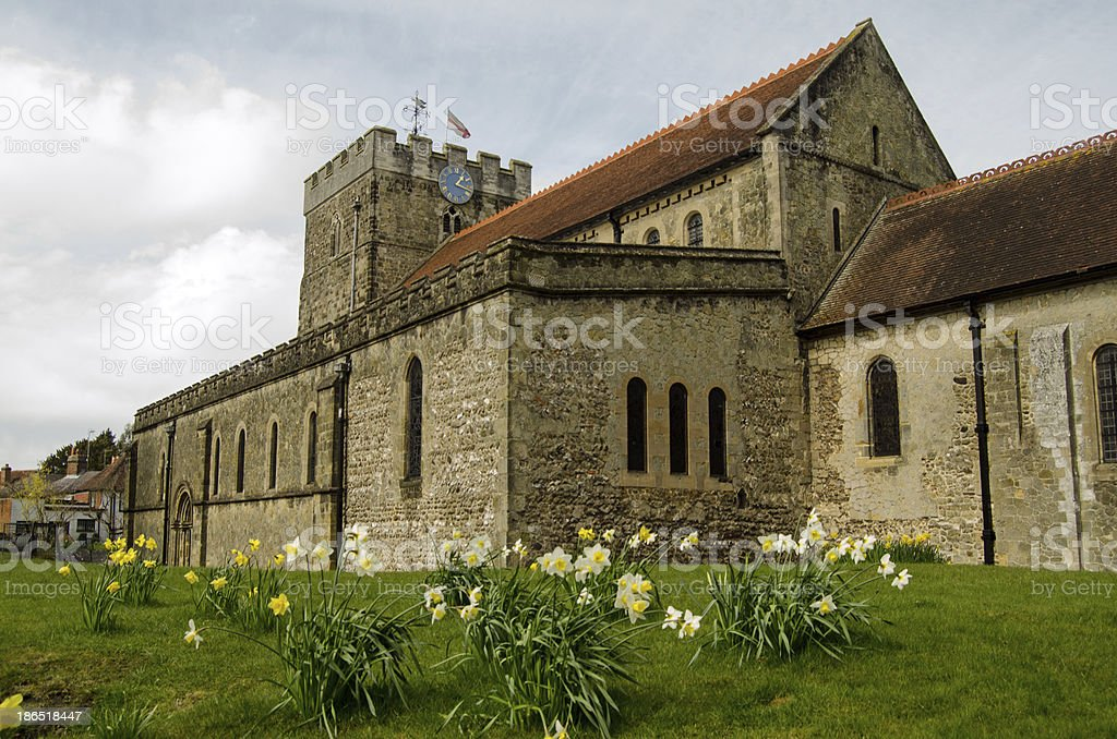 St Peter's Church in the Spring, Petersfield royalty-free stock photo