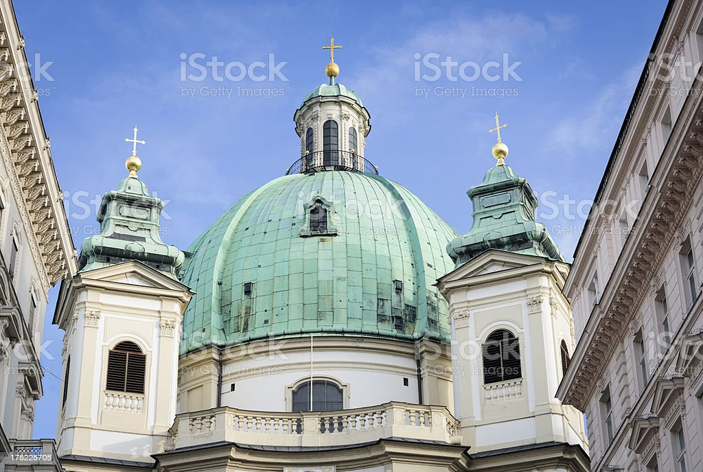 St Peter's Church in Vienna royalty-free stock photo